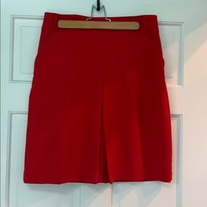 Red a line skirt